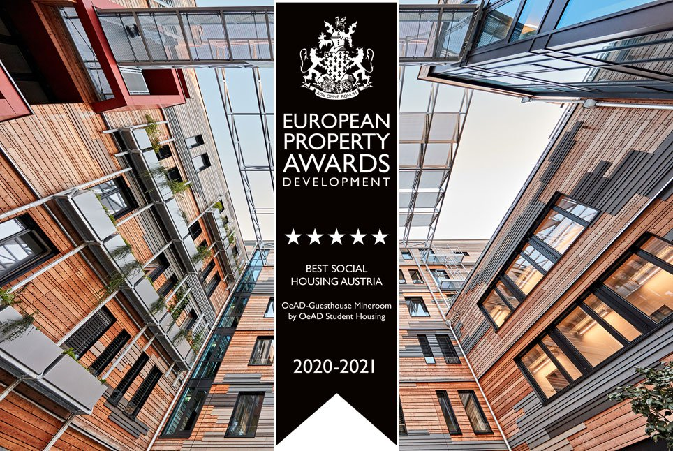OeAD-Guesthouse mineroom - winner of the 2020-2021 European Property Awards