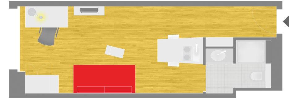 OeAD-Guesthouse Gasgasse Floor Plan D