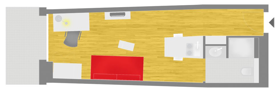OeAD-Guesthouse Gasgasse Floor Plan D+3