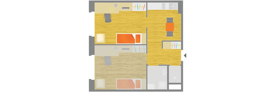 OeAD-Guesthouse Kandlgasse Floor Plan A
