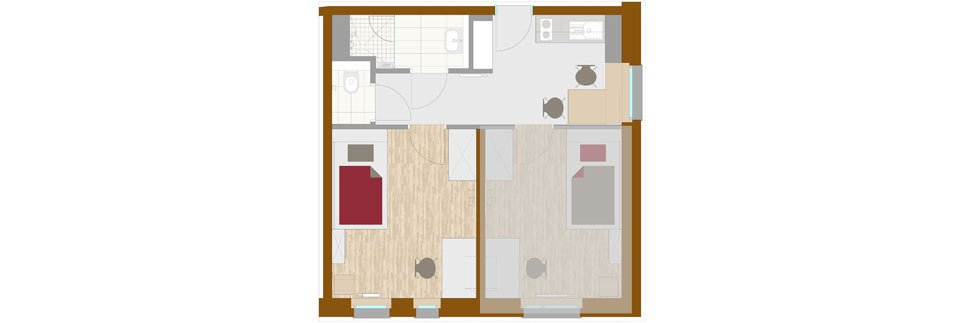 OeAD-Guesthouse mineroom Floor Plan A