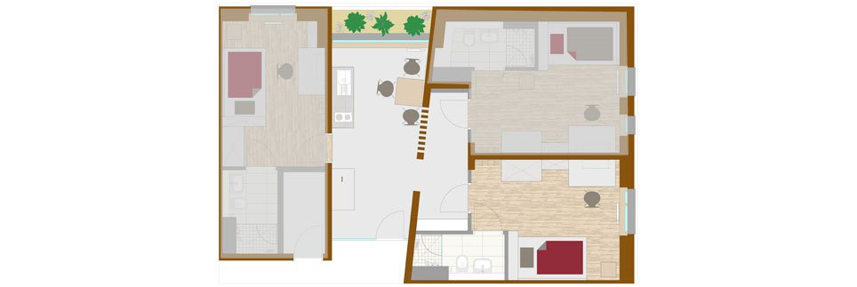 OeAD-Guesthouse mineroom Floor Plan A+1