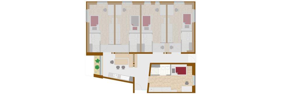 OeAD-Guesthouse mineroom Floor Plan A+1+2