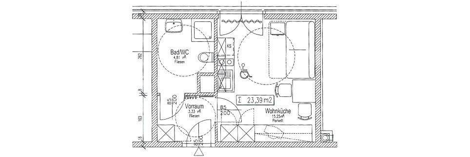 OeAD-Apartment Obermuellnerstrasse Floor Plan D
