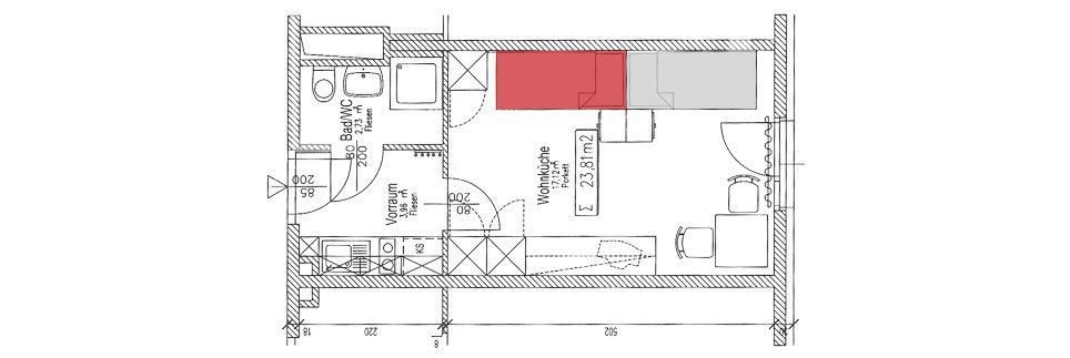 OeAD-Apartment Obermuellnerstrasse Floor Plan J