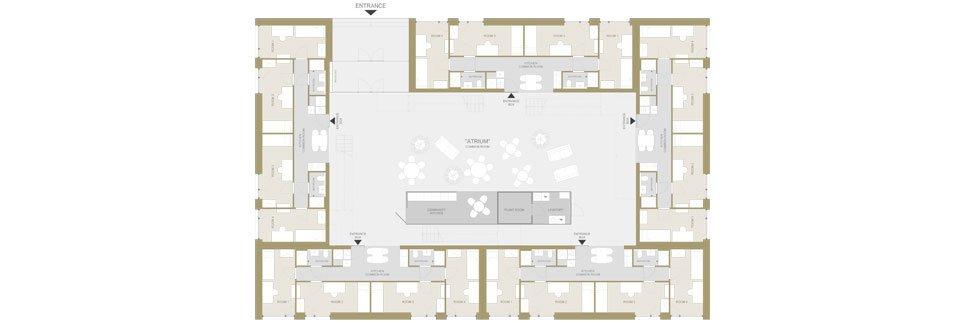 PopUp dorms Floor Plan