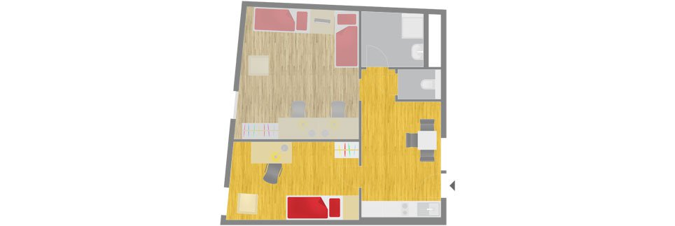 OeAD-Guesthouse Sechshauser Strasse Floor Plan A