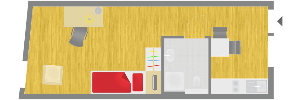 OeAD-Guesthouse Sechshauser Strasse Floor Plan D