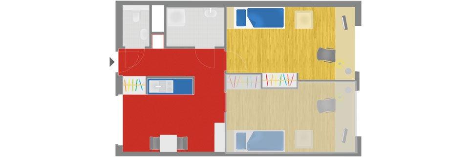 OeAD-Guesthouse Simmeringer Hauptstrasse Floor Plan A