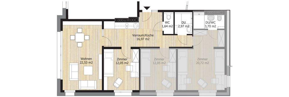 Sonnenallee Floor Plan A