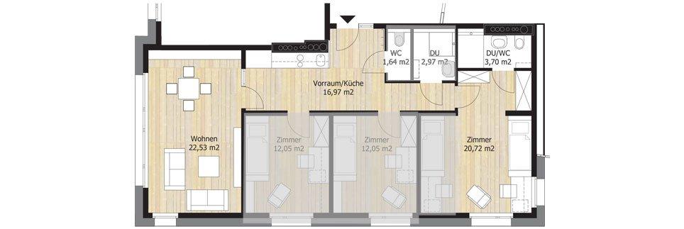 Sonnenallee Floor Plan H