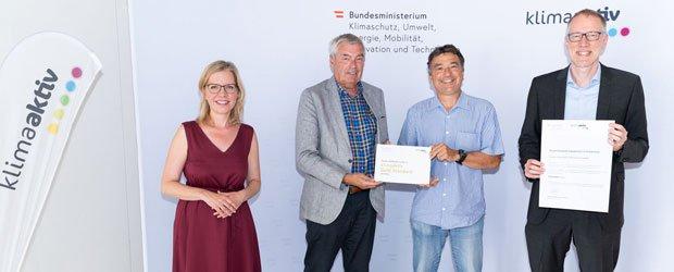 klimaaktiv GOLD award for OeAD-Guesthouse mineroom Leoben